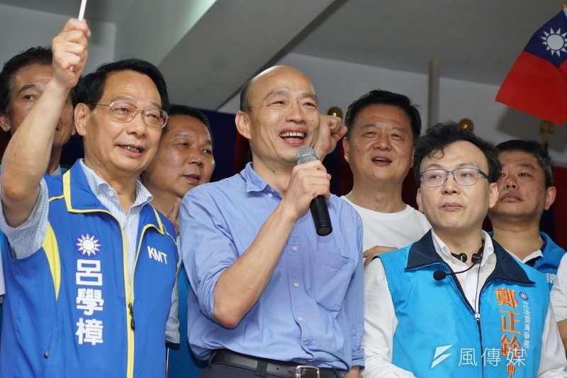 高雄市長韓國瑜初選出線以來,負評升高多半是「自爆」。(盧逸峰攝)