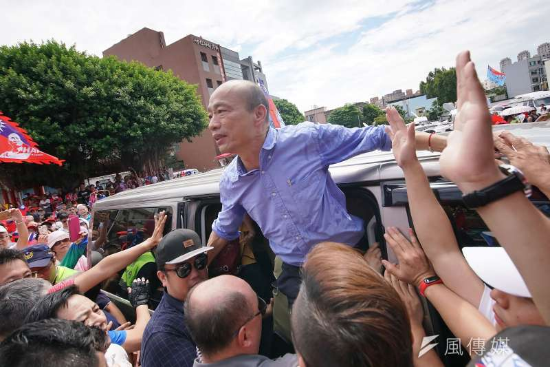 高雄市長韓國瑜20日爆料座車被裝追蹤器,質疑自己遭到「國家機器」監控。(資料照,盧逸峰攝)