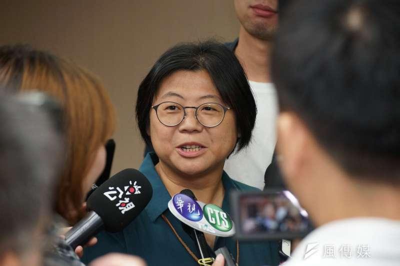 時代力量黨團主任陳惠敏(見圖)表示,自己不會參選黨主席。(盧逸峰攝)