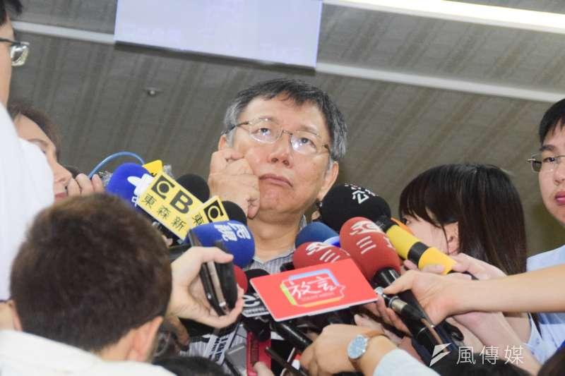 20180819-台北市長柯文哲接受媒體聯訪(吳俊廷攝)