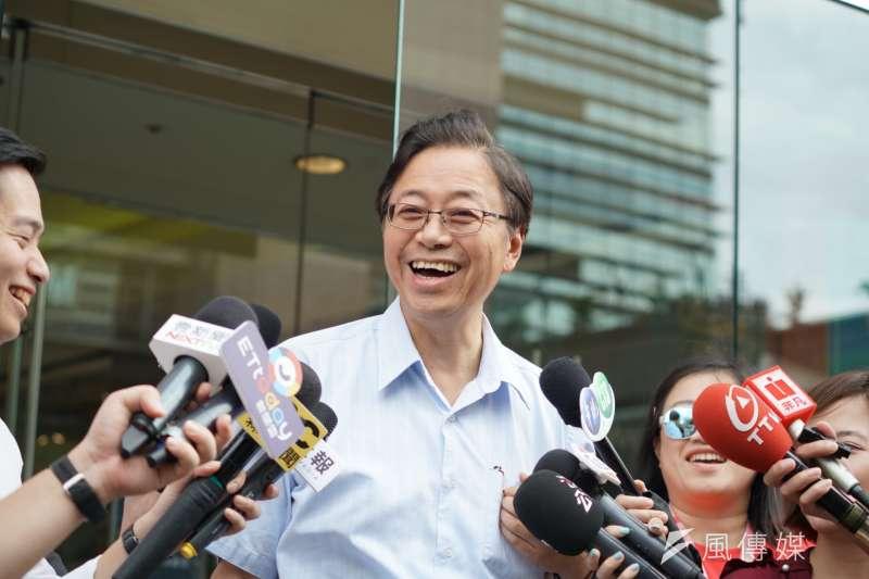 針對總統蔡英文20日質疑高雄市長韓國瑜向美表達感謝「是以何身分」?前行政院長張善政(見圖)對此表示,韓國瑜當然有資格講這個話。(盧逸峰攝)