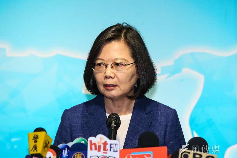 針對台北市長柯文哲指出,2020總統大選是無聊、骯髒又荒謬的。對此,總統蔡英文(見圖)在20日出席「2019亞太安全對話」會後做出回應,(顏麟宇攝)
