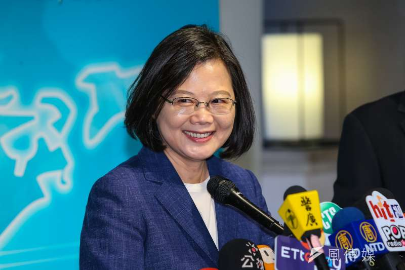 根據台灣民意基金會4日公布的最新調查,總統蔡英文(見圖)的聲望本月上升到45%,和上個月的支持度相比,增加約3個百分點。(資料照,顏麟宇攝)