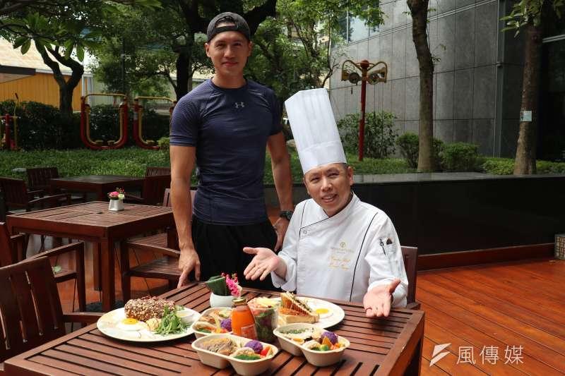 臺中星級酒店推出健康概念餐,由店行政主廚康志偉跟運動教練聯手,為酒店品牌的健康及運動概念注入清爽元素。(圖/王秀禾攝)