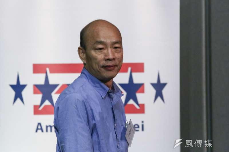 高雄市長韓國瑜日前參加台北市美國商會午餐會活動。(陳品佑攝)