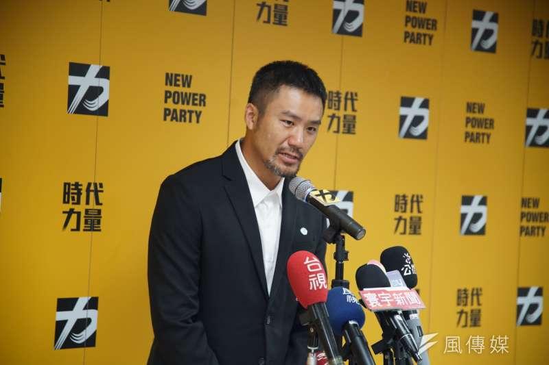 20190821-時代力量記者會,發言人陳志明主持。(盧逸峰攝)