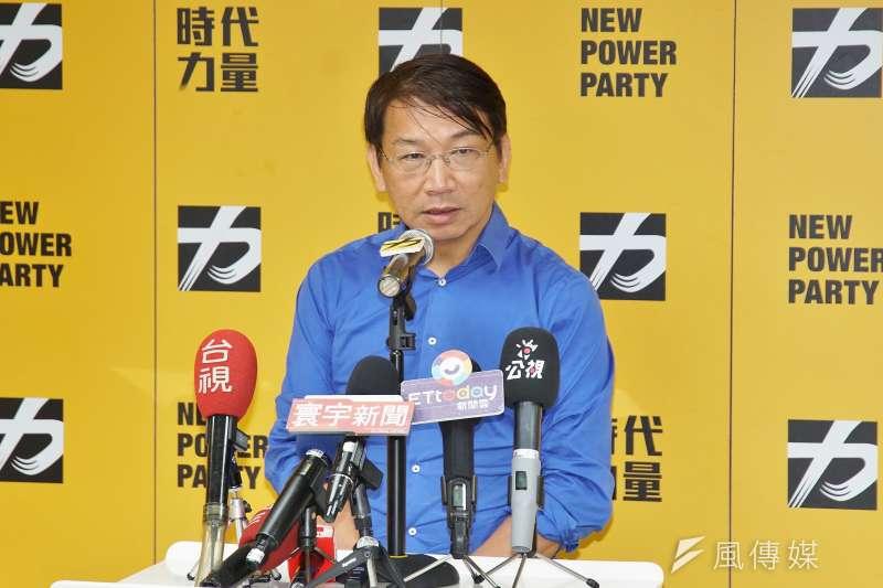 20190821-時代力量新任黨主席徐永明。(盧逸峰攝)