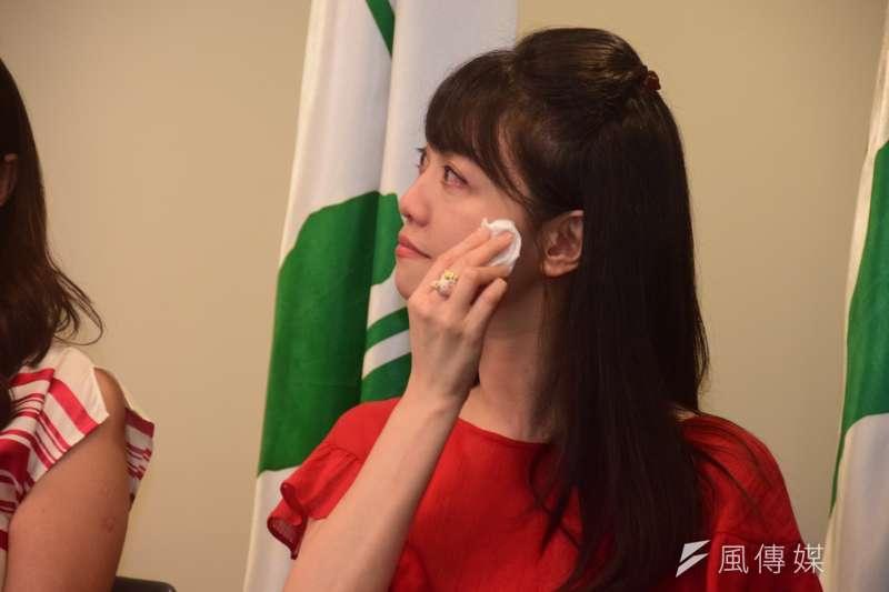 20190821-臺北市議員高嘉瑜出席2020民進黨立委徵召提名公布記者會。(吳俊廷攝)