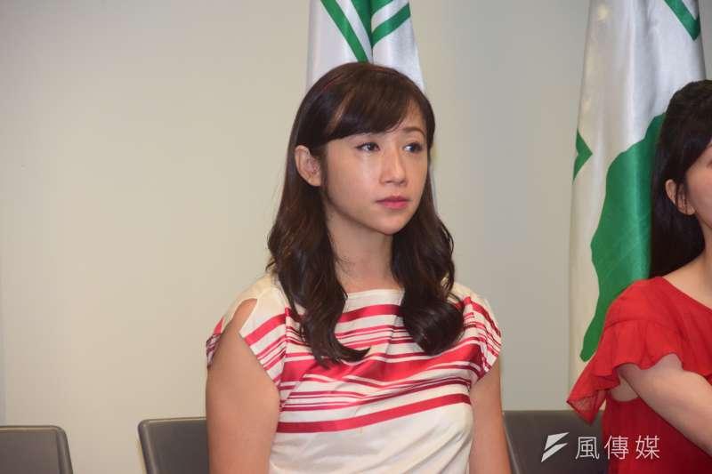 20190821-臺北市議員許淑華出席2020民進黨立委徵召提名公布記者會。(吳俊廷攝)