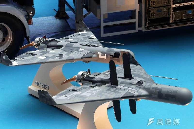 20190814-台北國際航太暨國防工業展,展出劍翔反輻射無人機。(蘇仲泓攝)