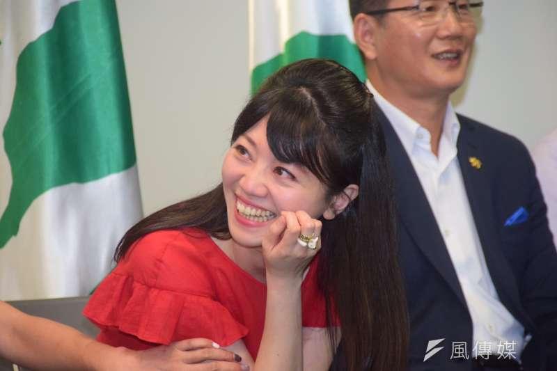 根據媒體報導,台北市議員高嘉瑜(見圖)表態效忠總統蔡英文,並提到若台北市長柯文哲要選總統,一定會去勸退,「不會讓柯文哲成為歷史的罪人」。(資料照,吳俊廷攝)