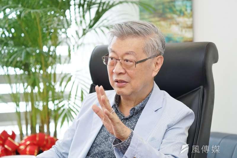 20190822-前行政院長陳冲接受《風傳媒》專訪。(盧逸峰攝)