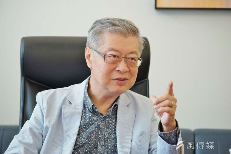 前行政院長、現任新世代財經基金會董事長陳冲接受《風傳媒》專訪,表示當初自己沒有擔任副閣揆與閣揆的預期。(盧逸峰攝)