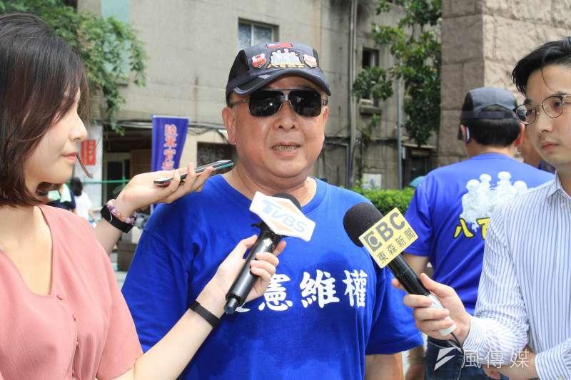 八百壯士理事長吳斯懷寧冒爭議還是要爭不分區立委。(蔡親傑攝)
