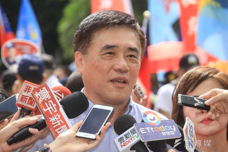 國民黨副主席郝龍斌表示,民進黨執政是「治國靠騙術、賺錢靠淘空」。(資料照,蔡親傑攝)