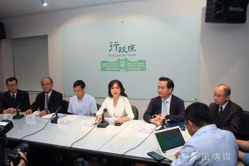 行政院23日說明並回應年改釋憲事宜(蔡親傑攝)
