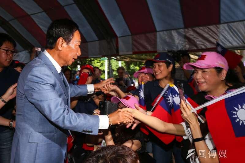 前鴻海董事長郭台銘傳聞中秋節宣布獨立參選。(顏麟宇攝)