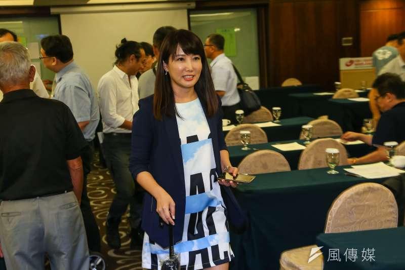 20190824-永齡基金會副執行長蔡沁瑜24日出席台灣維新黨成立大會。(顏麟宇攝)