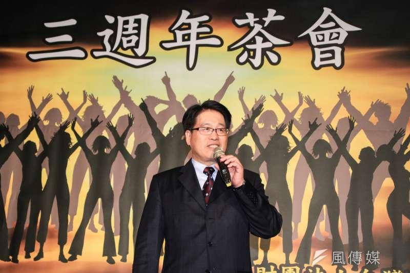 20190824-台灣民意基金會24日舉行三周年茶會,董事長游盈隆發表周年談話並發表八月全國性民調。(蔡親傑攝)