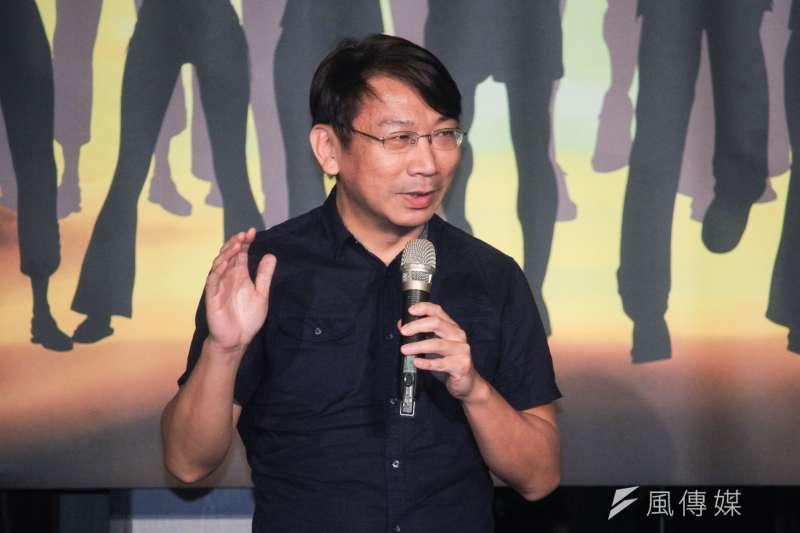 台灣民意基金會今天舉辦成立3周年茶會,時代力量黨主席徐永明也出席。(蔡親傑攝)