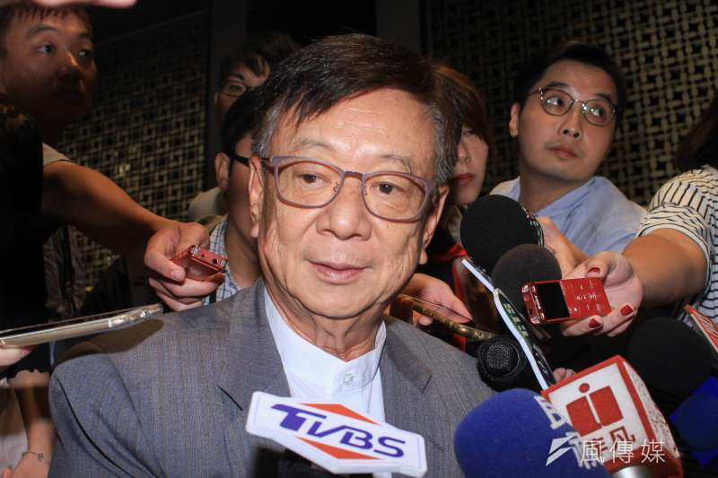 20190824-友訊科技董事長宣明智出席台灣民意基金會三周年茶會。(蔡親傑攝)
