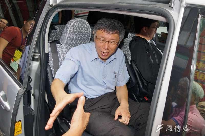 對於遭國民黨中常委連勝文指是臥底,台北市長柯文哲(見圖)回酸「偵探小說看太多」。(盧逸峰攝)