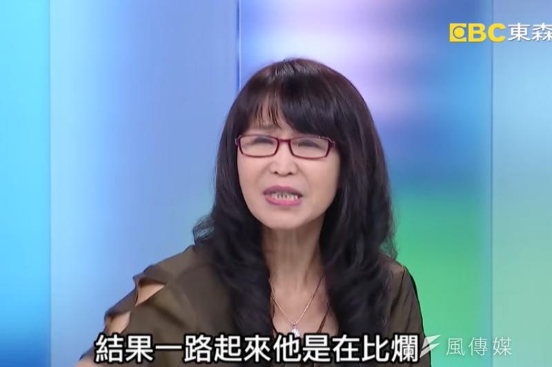 原挺韓大將、「北漂媽媽」潘金英(見圖)在節目上痛批韓國瑜「一路在比爛」。(取自「關鍵時刻」頻道)