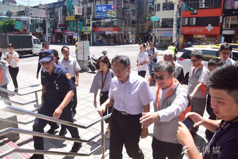 台北市長柯文哲27日出席一日社區關懷活日活動。(吳俊廷攝)