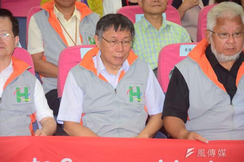 20190827-台北市長柯文哲出席一日社區關懷活日活動。(吳俊廷攝)