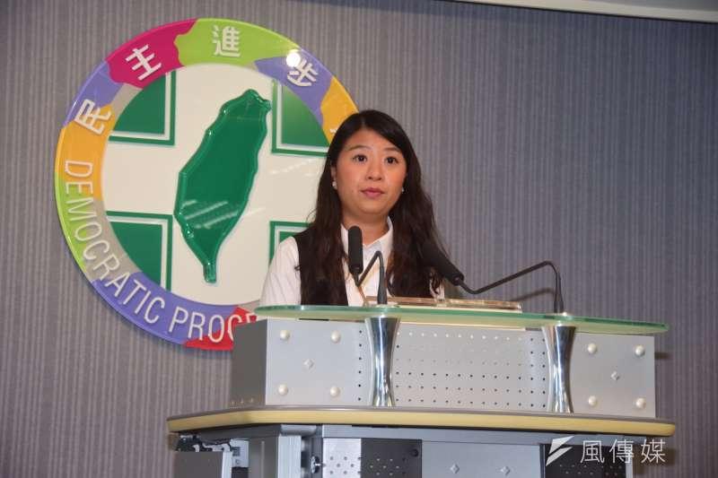民進黨發言人薛呈懿表示,香港反送中運動是國際高度關注的議題,民進黨會持續關注。(資料照,吳俊廷攝)