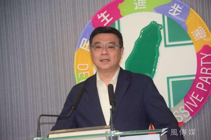20190828-卓榮泰主席召開記者會談話。(吳俊廷攝)