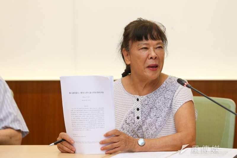 台灣維新黨今(22)日公布不分區立委名單,其中台大法律學院名譽教授賀德芬(見圖)排名第1。(資料照,顏麟宇攝)