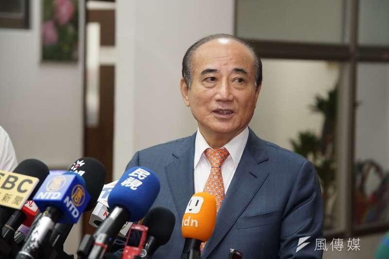 前立法院長王金平接受媒體聯訪。(盧逸峰攝)