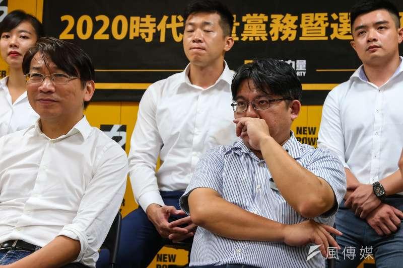 20190830-時代力量前黨主席邱顯智30日出席「2020時代力量黨務暨選舉助選應援團隊」記者會。(顏麟宇攝)