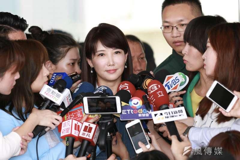 針對外傳韓國瑜透過3組友人聯繫郭台銘,郭辦發言人蔡沁瑜(見圖)20日表示,沒有這樣的人出現。(資料照, 簡必丞攝)
