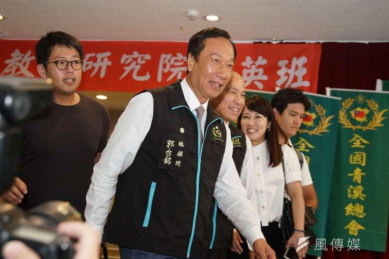 鴻海集團創辦人郭台銘(見圖)1日以「台灣經濟發展之契機與新思維」為題發表演講,提到台灣「4大危機」。時代力量立委黃國昌2日表示,看完演講「相當失望」。(資料照,盧逸峰攝)
