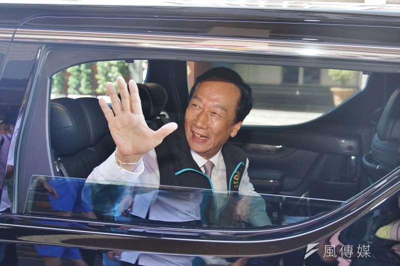 鴻海創辦人郭台銘16日晚宣布不投入總統大選。(資料照片,盧逸峰攝)