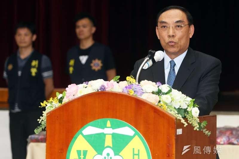 20190902-法務部長蔡清祥表示,「反毒是一場永無止盡的戰爭,也是一場輸不起的戰爭!」(蘇仲泓攝)
