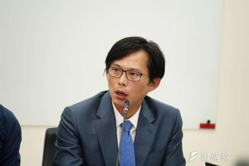 20190903-立委黃國昌發言。(盧逸峰攝)