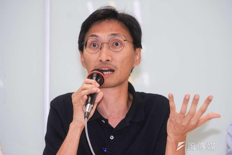 民進黨指出,原香港立法會議員朱凱廸(見圖)、陳志全及許智峯18日被香港警方國家安全處人員逮捕。(資料照,蔡親傑攝)