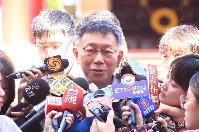 針對傳出因組黨而導致與親民黨關係生變,台北市長柯文哲(見圖)3日表示,會找時間去拜訪親民黨主席宋楚瑜。(方炳超攝)