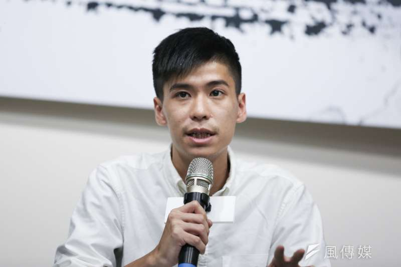 20190904-光合基金會4日舉辦「香港怎麼了,台灣怎麼辦」座談會,前學聯秘書長岺敖暉出席與談。(簡必丞攝)