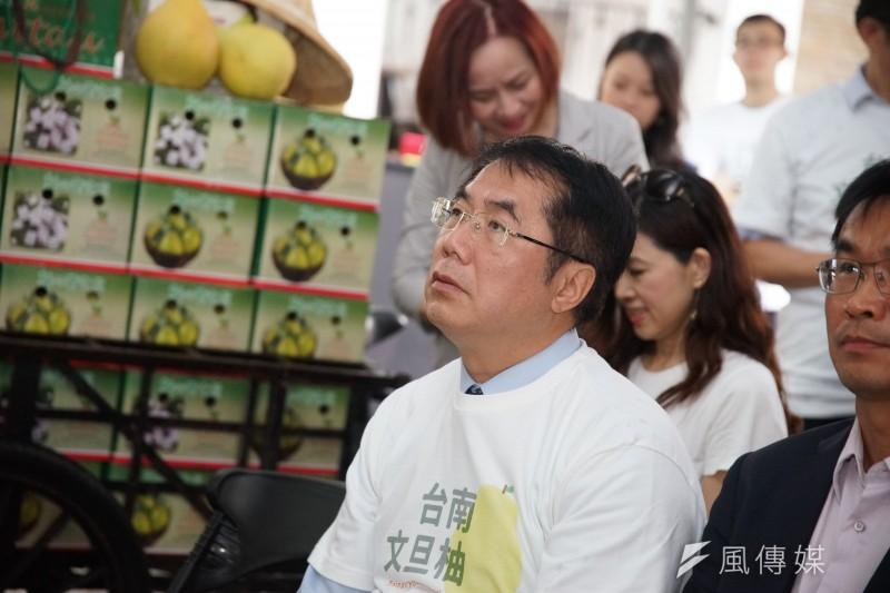 前副總統呂秀蓮將參選2020總統,台南市長黃偉哲(見圖)對此表示,民進黨要謹慎應對。(資料照,盧逸峰攝)