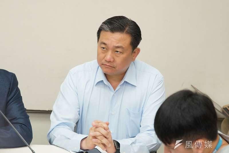 民進黨立委王定宇談這一次訪美行程。(資料照片,盧逸峰攝)