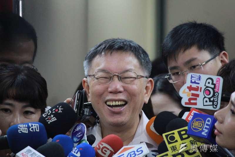 20190905-台北市長柯文哲5日接受媒體聯訪。(方炳超攝)