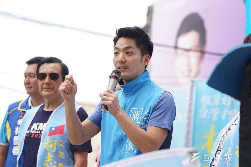 國民黨台北市立委參選人蔣萬安(見圖)7日於臉書貼文,表態支持國民黨唯一提名總統候選人韓國瑜。(資料照,盧逸峰攝)