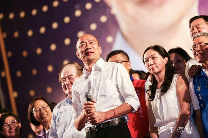 國民黨總統參選人、高雄市長韓國瑜在新北市舉行首場造勢活動,但前總統馬英九致詞被噓下台一事,引發熱議。(資料照,簡必丞攝)