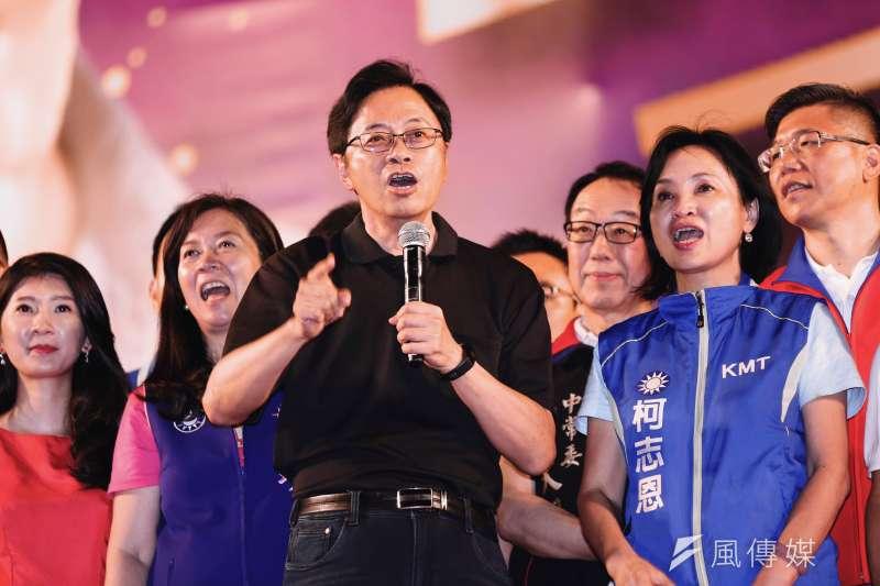 20190908-國政顧問團長張善政8日出席韓國瑜新北市造勢活動。(簡必丞攝)