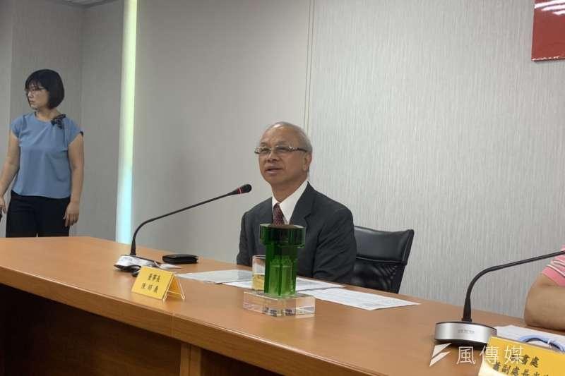 台糖董事長陳昭義9日表示,預計接下來16座台糖養豬廠都要比照與「東海豐業循環園區」相同的循環經濟模式改建,最快年底就有7座可招標、後年就可完工。(尹俞歡攝)