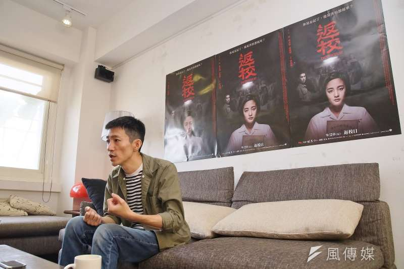 20190909-導演徐漢強接受《風傳媒》專訪。(盧逸峰攝)
